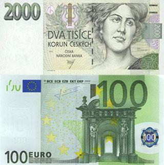 Калькулятор курса чешской кроны к евро