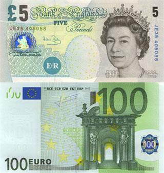 фунт стерлингов евро