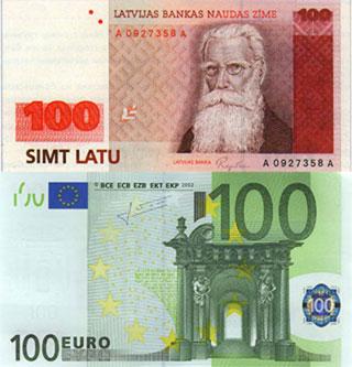 Калькулятор курса латвийского лата к евро