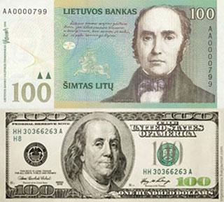 Калькулятор курса лита к доллару