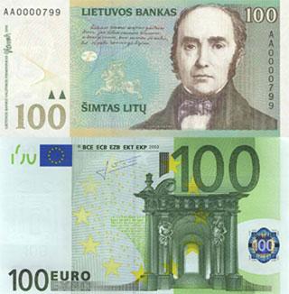 Калькулятор курса литовского лита к евро