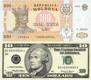 Калькулятор курса молдавского лея к доллару