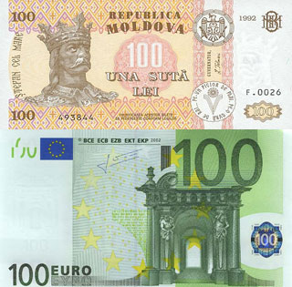 Калькулятор курса молдавского лея к евро
