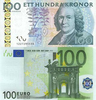 Калькулятор курса шведской кроны к евро