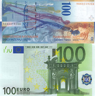 Калькулятор курса швейцарского франка к евро